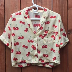 Forever 21 Cherry Button Down